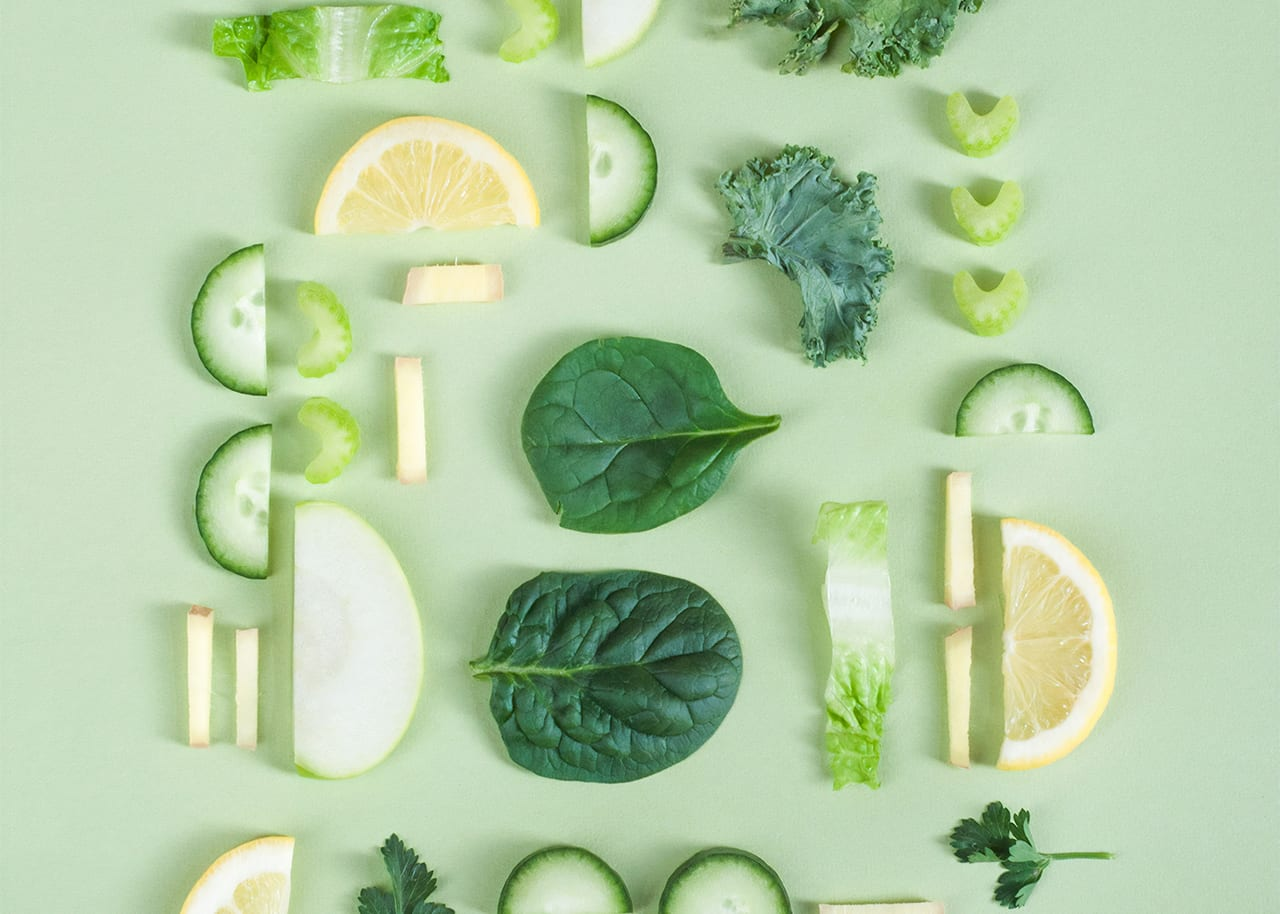 green vegetables abstract