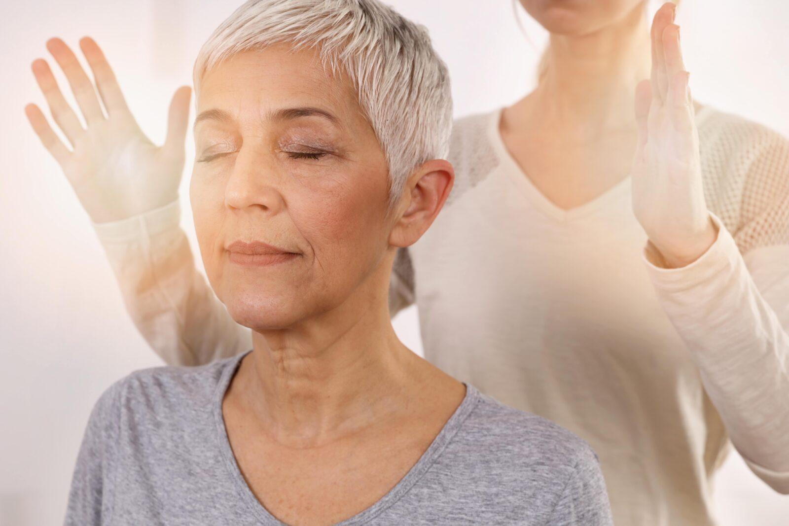 woman receiving holistic medicine